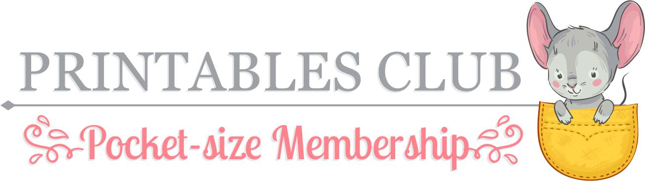 Printables Club Pocket-size Membership Samples